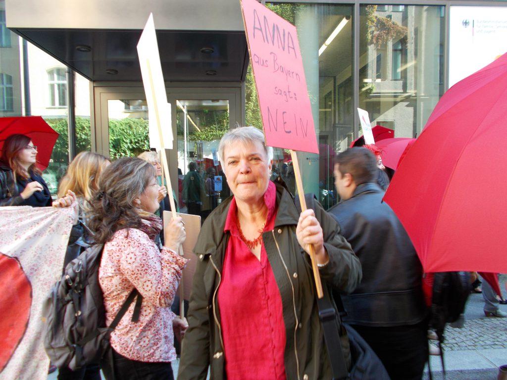 Demonstration in Dessau