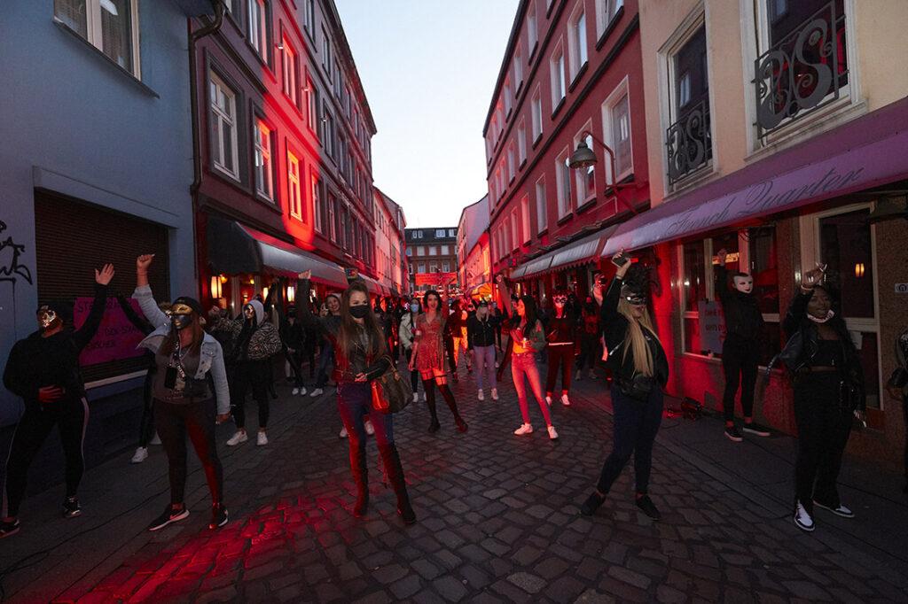 Protest in Hamburg im Juli 2020