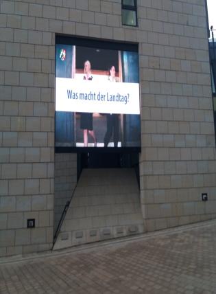 Werbung Landtag NRW