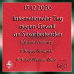 17.12.2020 - keine Gewalt an Sexarbeitenden