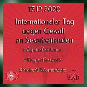 17.12.2020: Internationaler Tag zur Beendigung von Gewalt an Sexarbeiter*innen