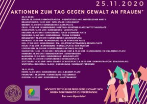 Demos gegen Gewalt an Frauen