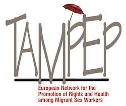 Logo of TAMPEP - European Network for the Promotion of Rights and Health among Migrant Sex Workers